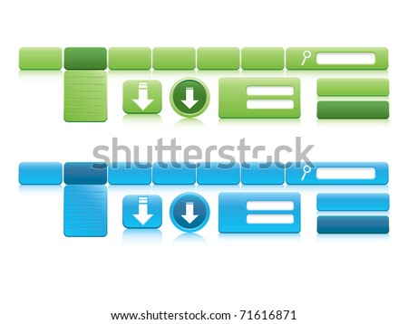 Website design elements - stock vector