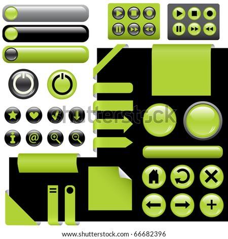 website design elements - buttons in green color