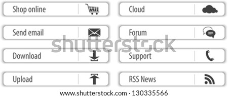 Website design light gray elements and modules. Vector illustration - stock vector