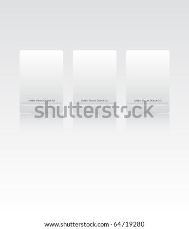 Website Design Menu template - stock vector
