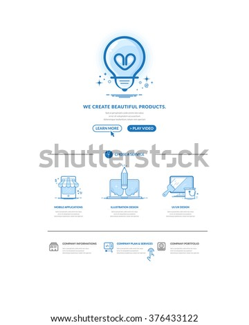 Website design model templates with navigation menu and icons set. - stock vector