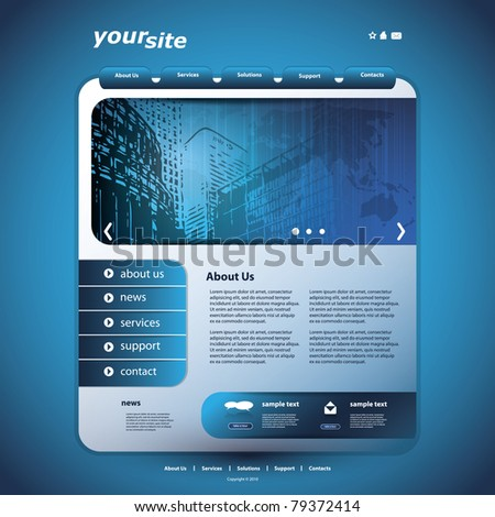 Website Design Template - stock vector