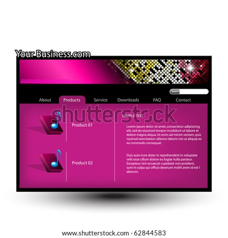 Website design template.Easy to edit.Vector illustration. - stock vector