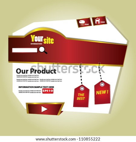 Website Design Template,Vector - stock vector