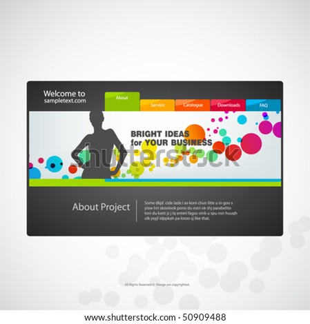 Website design template. Vector. - stock vector