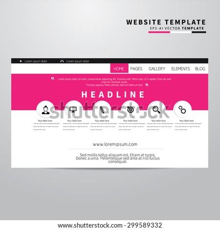 Website Design Template , vector elements - stock vector