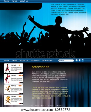 Website design template. Vector illustration