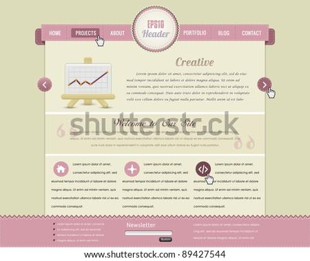 website design vector elements - stock vector