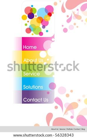Website design . Vector Illustration - stock vector