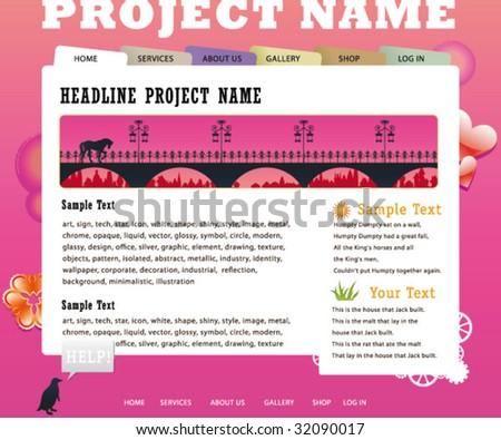 Corporate Website Template All Editable Vector Stock Vector ...