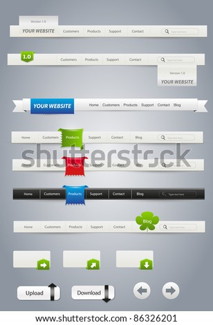 Website graphics - stock vector