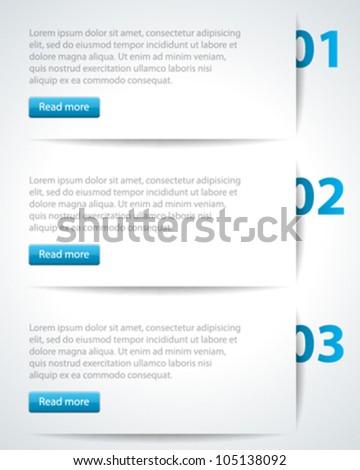 Website header design template. Vector illustration eps 10. - stock vector
