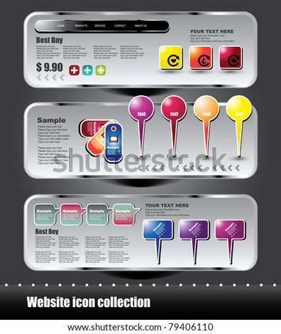 website icon collection - stock vector
