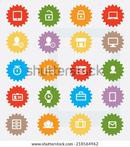 Website icon set,colour version,clean vector - stock vector