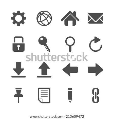 website icon set, vector eps10 - stock vector