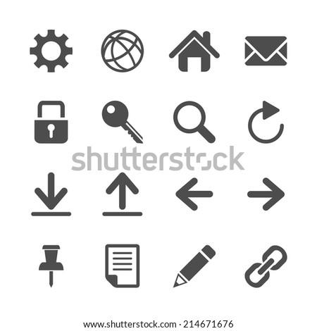 website icon set, vector eps10. - stock vector