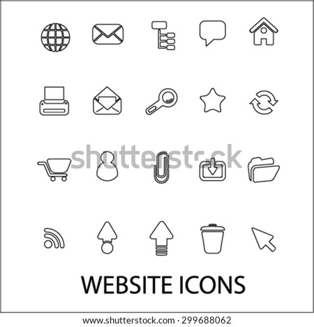 website icons set, vector