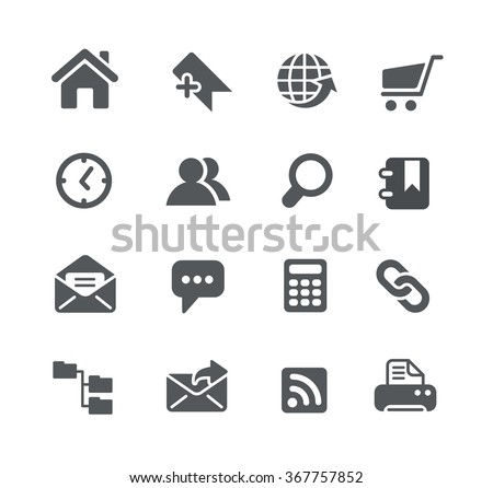 Website Icons // Utility Series - stock vector
