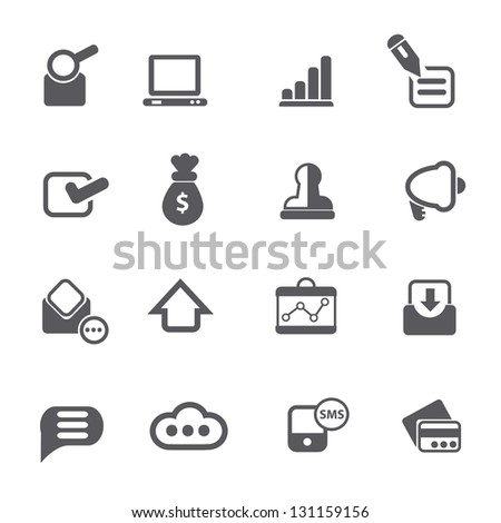 Website icons,vector - stock vector