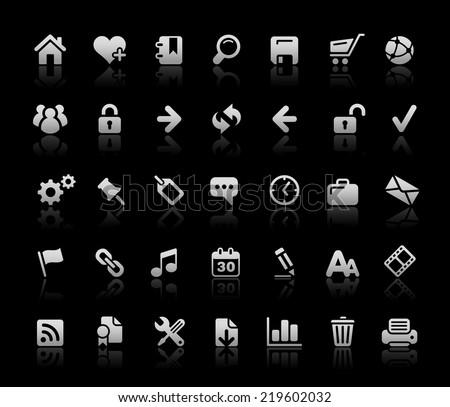 Website & Internet Icons // Black Basics - stock vector