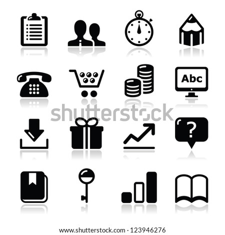 Website internet icons set - vector - stock vector