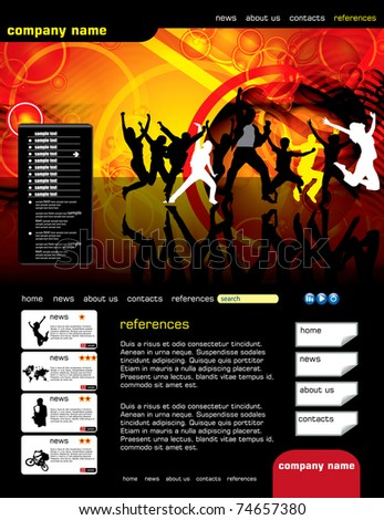 Website layout - stock vector
