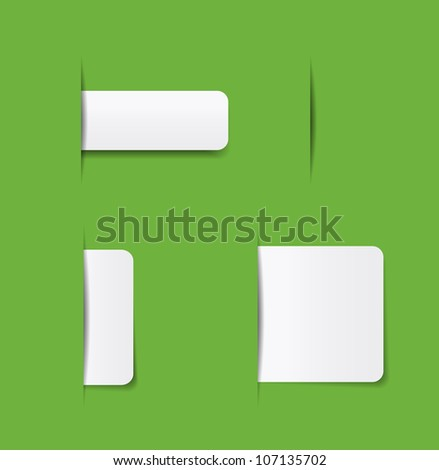 website navigation tabs, eps10 format for easy editing. - stock vector