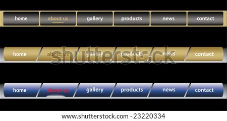 Website Navigation Templates / editable / vector - stock vector