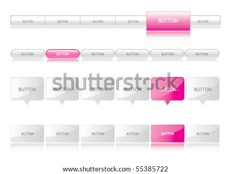Website navigation templates hot pink stock vector 55385722 website navigation templates hot pink ccuart Image collections