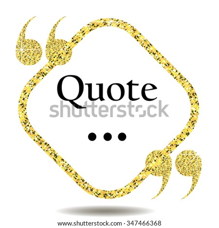 website review quote citation blank template stock vector 347466368