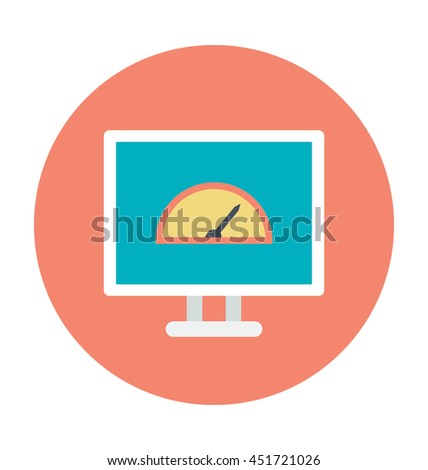 Website Speedometer Colored Vector Icon