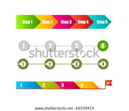 Website step design template - stock vector