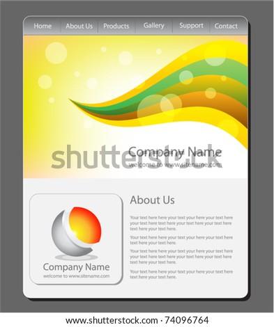 Website template stock vector 74096764 shutterstock website template pronofoot35fo Gallery