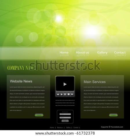 Website template, editable vector. - stock vector