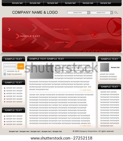 website template vector - stock vector