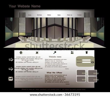 website template, vector - stock vector