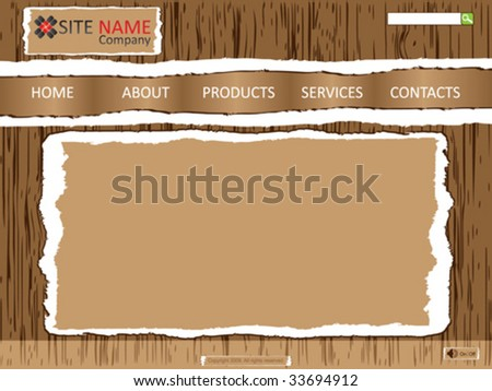 website template vector illustration - stock vector