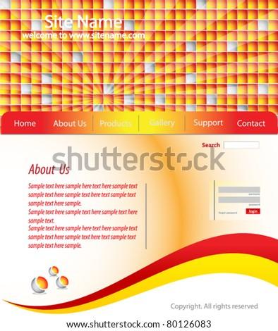 Website templates - stock vector