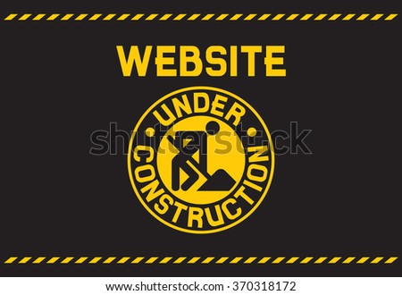 website under construction background (under construction template) - stock vector