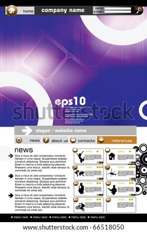 Website vector template - stock vector