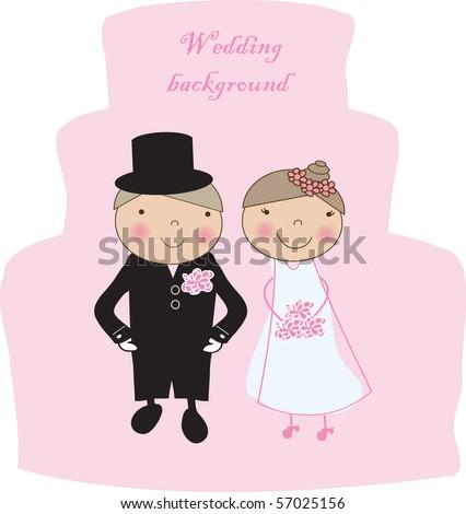Wedding background - stock vector