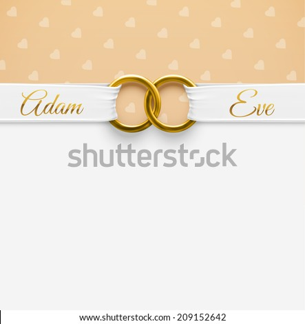 Wedding Background with rings, eps 10 - stock vector