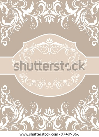 Wedding banner - stock vector