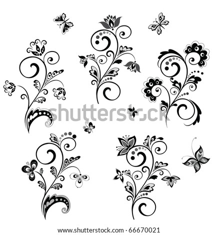Wedding borders (black and white) - stock vector