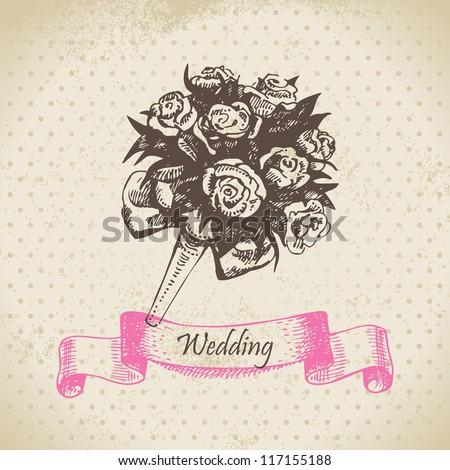 Рисовать букет невесты