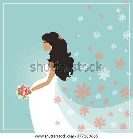Wedding Bridal Shower Card Cartoon Pregnant Stock Vector - Bridal shower card template