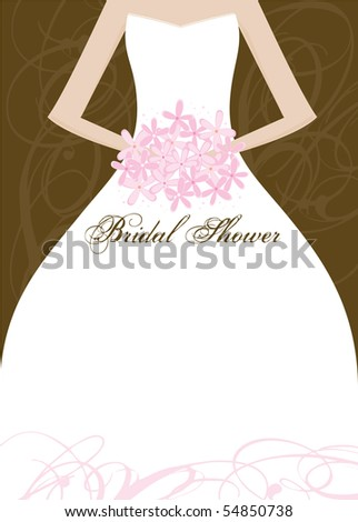 Wedding Bridal Shower Invitation Panel - Area for your text