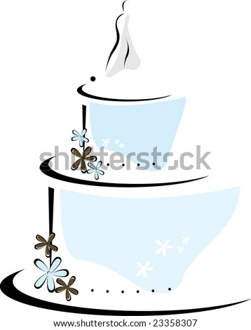 Wedding Cake Topper Stock Vectors & Vector Clip Art ...