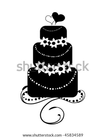 wedding cake icon vector black and white wedding cake stock images royalty free 22892