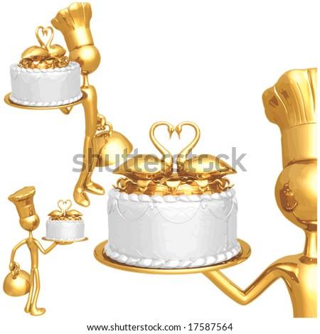 Wedding Cake Baker - stock vector